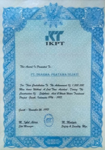 Sertifikasi dan Lisensi Penghargaan Keselamatan 13 1997_safety_award_ikpt_sulphuric_acid_amp_waste_water_treatment_project_gresik